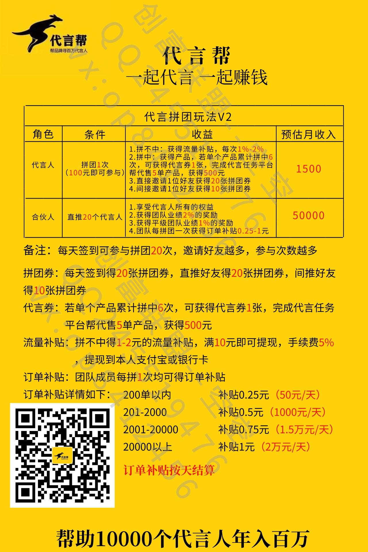 图片[6]-8月8日上线【代言帮】拼团–三大上市公司联合发起,日入过千-首码社