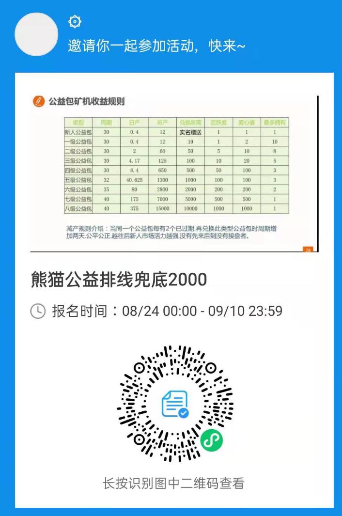 图片[1]-【排线】熊猫公益+实体卷轴排线兜底2000-首码社